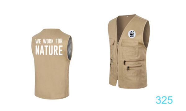 325  เสื้อกั๊ก  WE  WORK  FOR  NATURE  - องค์การกองทุนสัตว์ป่าโลกสากล ( สำนักงานประเทศไทย)